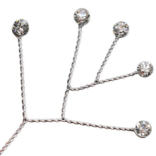 Diamond strand clear shiny 10cm 12pcs