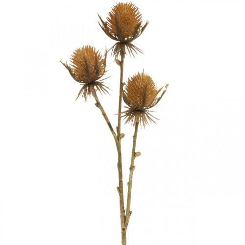 Thistle branch brown artificial plant autumn decoration 38cm