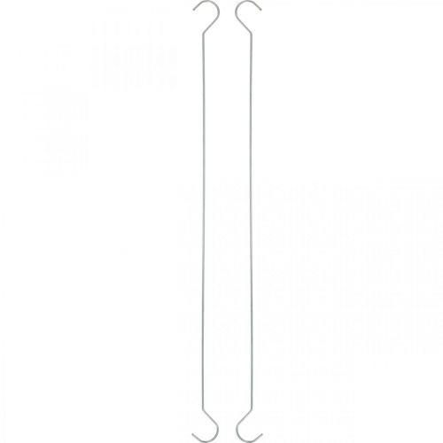 Metal hooks, double hooks silver XL L40cm 5pcs