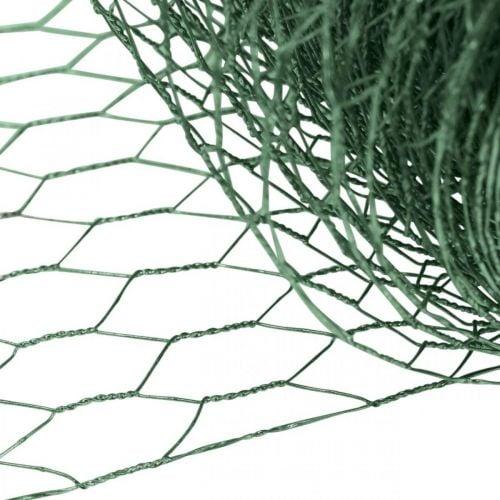 Hexagonal mesh green wire PVC-coated wire mesh 50cm × 10m