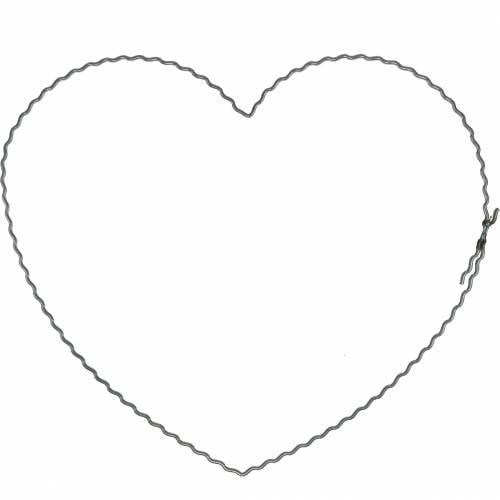 Wire hearts 20cm wave rings wreath hoops heart 10pcs