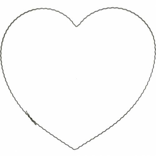 Wire heart 30cm wave ring for wall wreath wreath ring heart 10pcs
