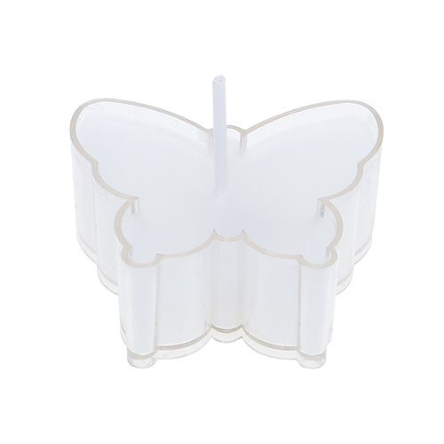 Scented Tealight Butterfly Ø4.8cm H2cm White 6pcs
