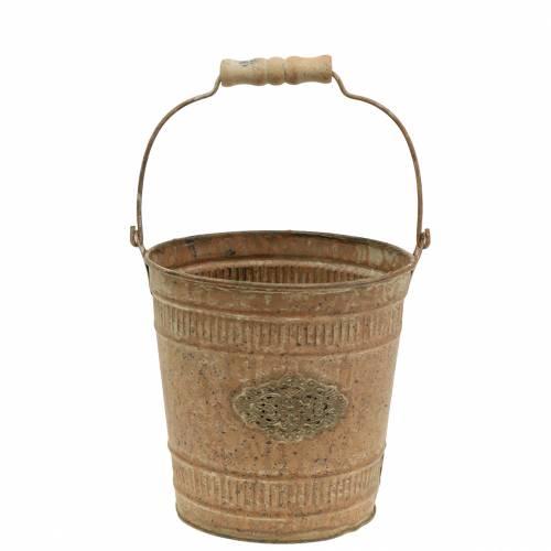 Deco Bucket Shabby Chic Vintage Ø12,5cm H12cm