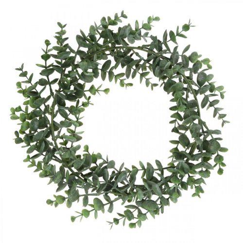 Decorative wreath eucalyptus green Artificial eucalyptus wreath Ø32cm