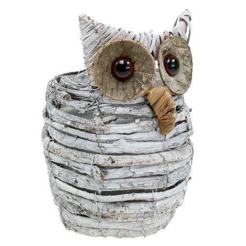Planting Owl White 23cm