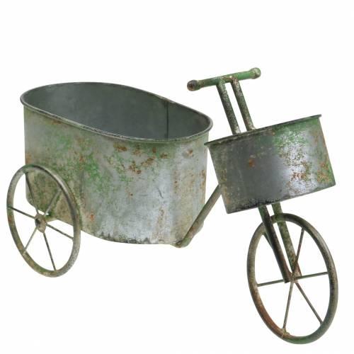 Flower pot bicycle zinc gray, green 40 × 14 × 21cm