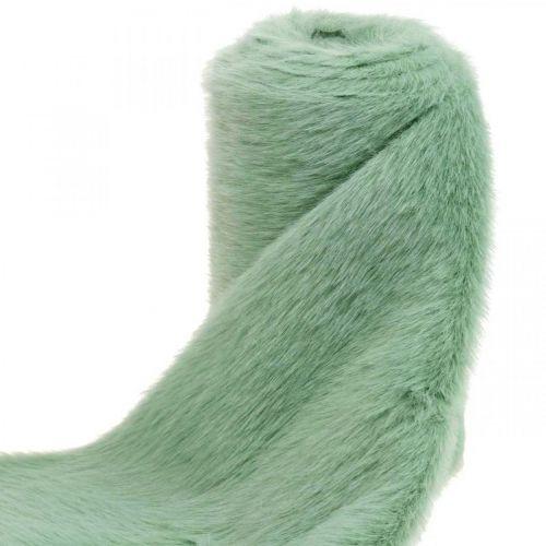 Decorative fur ribbon green faux fur mint fur table runner 15 × 150cm