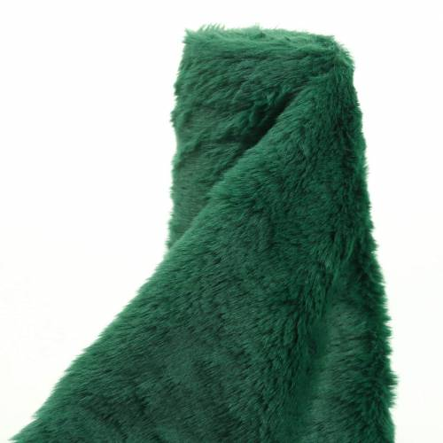 Decorative fur ribbon dark green 20cm x 200cm