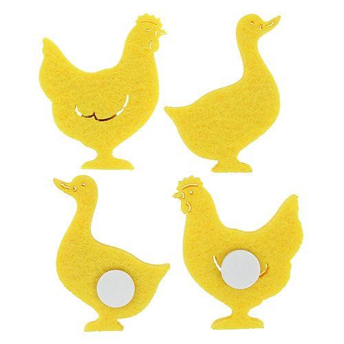 Felt duck, chicken self-adhesive yellow 96pcs