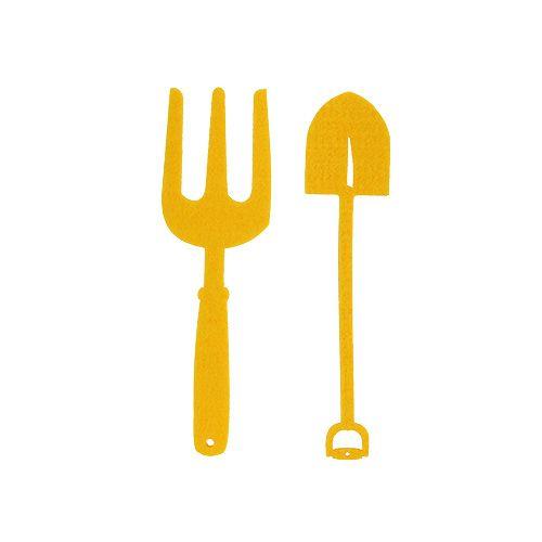 Felt garden tool yellow 6pcs