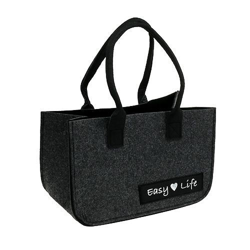 "Felt bag ""Easy Life"" 39cm x 22cm x 25,5cm Gray"