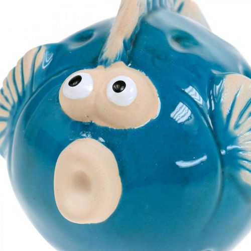 Ceramic fish, maritime, decorative fish blue L11.5 4pcs