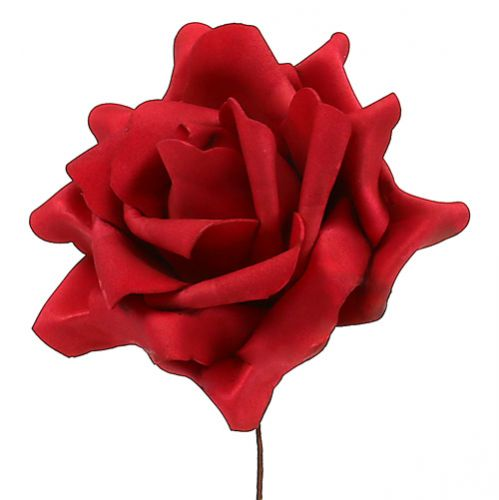 Foamrose foam rose red Ø15cm 4pcs