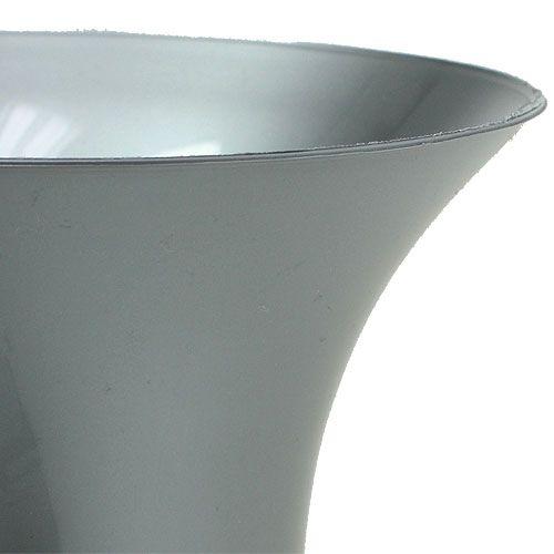 Grave vase silver 40cm