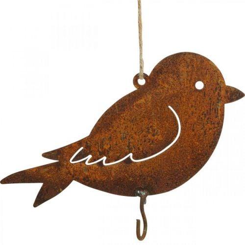 Decorative bird, food hanger, metal decoration stainless steel 19 × 13.5cm