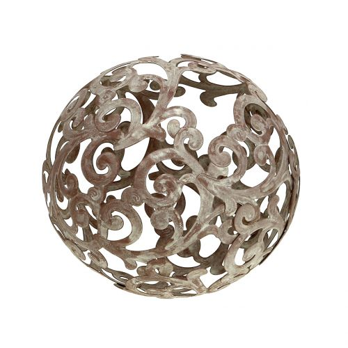 Garden deco, metal ball rust Ø14cm