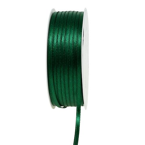 Gift and decoration ribbon 3mm x 50m dark green