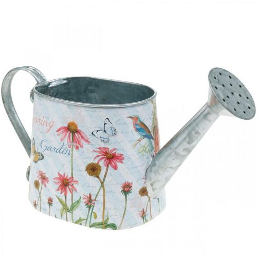 Decorative watering can for planting metal plant bucket flowers H15.5cm