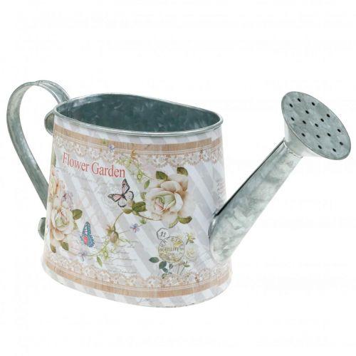 Decorative watering can metal planter pot summer decoration H15.5cm