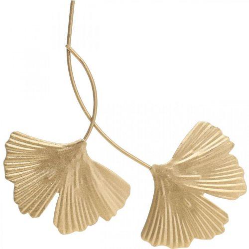 Ginkgo leaf metal Ginkgo decoration golden metal decoration 14cm 12pcs