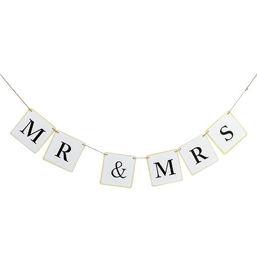 "Garland ""Mr & Mrs"" 85cm White 1pc"