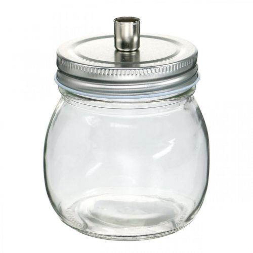Decorative glass with candle holder candle decoration Ø8cm H10.5cm 4pcs
