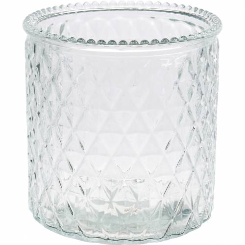 Decorative glass diamond glass vase clear flower vase 6pcs