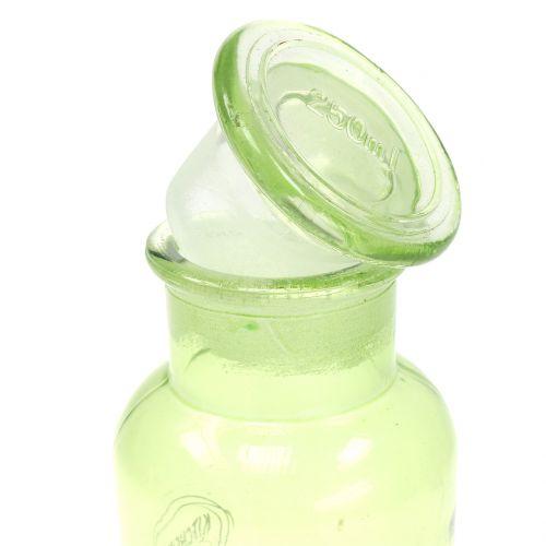 Deco glass bottle with closure 14cm 2pcs