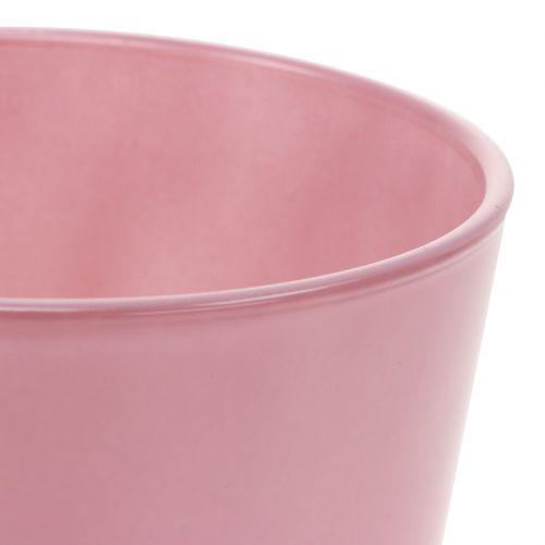 Glass pot Ø11,5cm H10,8cm old pink