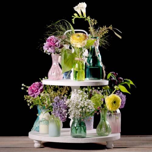 Glass Vase Farmer's Silver Pink H11cm 6pcs