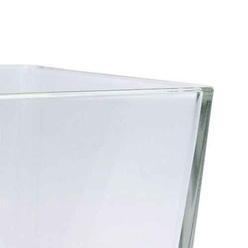 Glass cube clear 10cm x 10cm x 10cm 6pcs