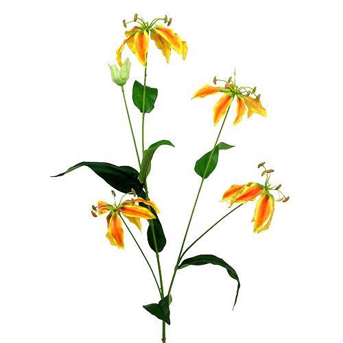 Gloriosa branch orange-yellow 90cm 1pc