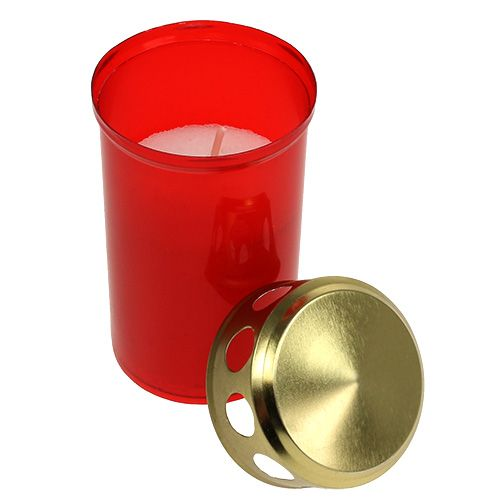 Grave light cylindrical red Ø6cm H10cm 12pcs