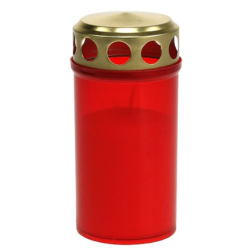 Grab candle cylindrical red Ø6cm H12cm 12pcs