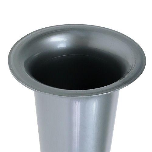 Grave vase silver 28.5cm