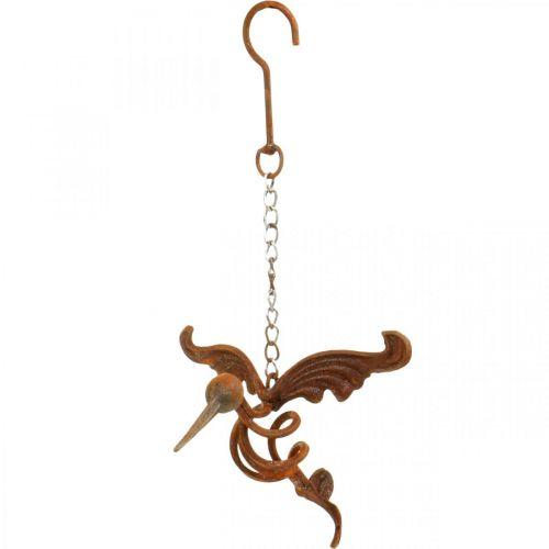 Hummingbird garden decoration stainless steel bird for hanging 24 × 19cm