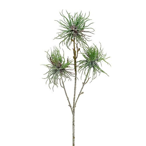 Hamamelis branch 44cm green, silver 1pc