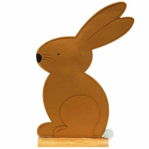 Decorative rabbit sitting felt light brown 40cm x 7cm H61cm Easter decoration, shop window