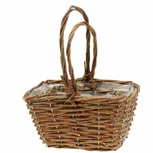Handle basket nature 24cm / 16cm 2pcs