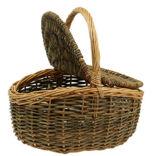 Picnic basket willow 40cm x 30 cm H20cm