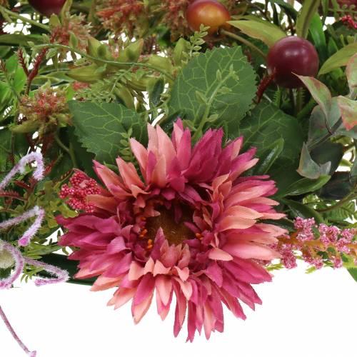 Autumn wreath Chrysanthemum Purple Ø30cm