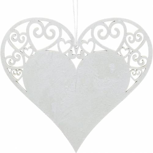 Heart decoration to hang, wedding decoration, heart pendant made of wood, heart decoration, Valentine's Day 12pcs