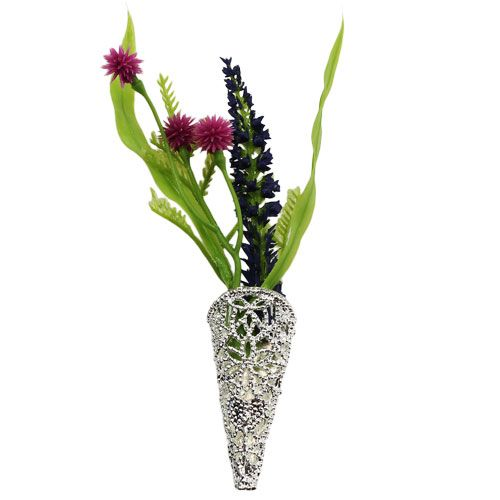 Wedding pin with magnet silver 4,5cm