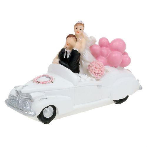Wedding figure newlyweds in the car 16cm