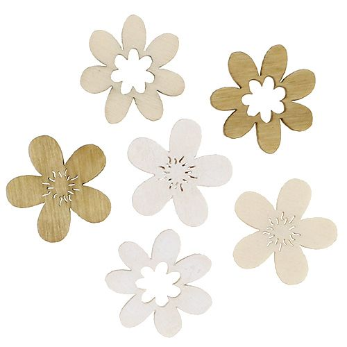 Wooden flowers for scattering sort. 2cm natural 144p