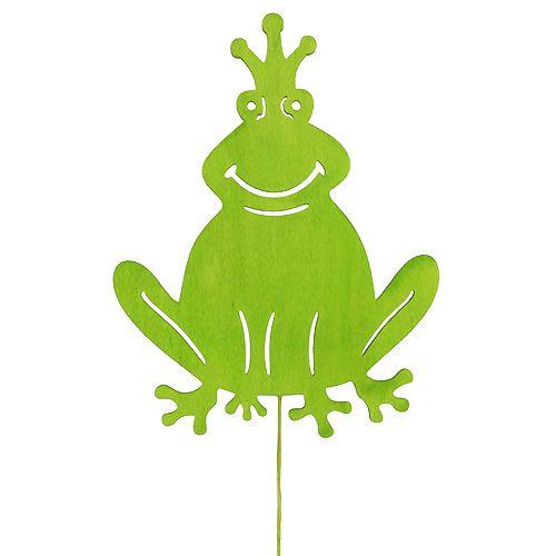 Wood frog on the stick 30cm L62,5cm 2pcs.