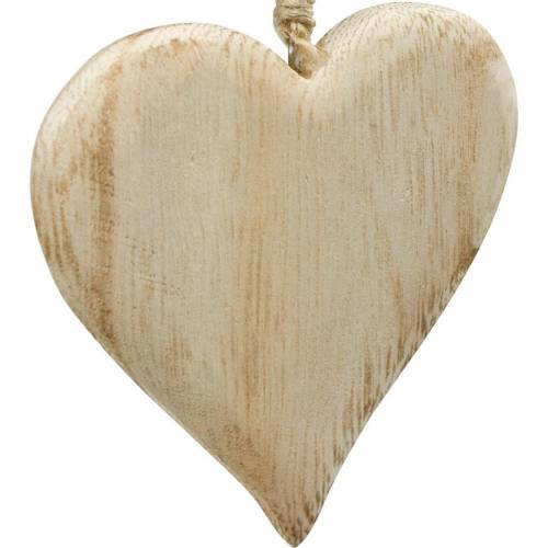 Decorative heart Valentine's Day wooden heart to hang nature wood decoration 4pcs