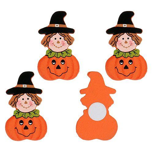 Wooden pumpkin for gluing 3,5cm Orange 18pcs