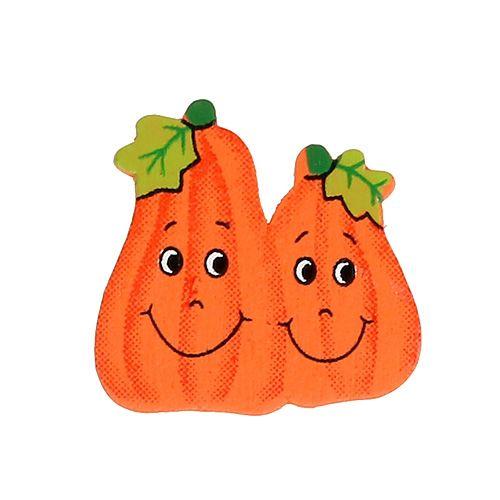 Wooden pumpkins to glue 2.5cm orange 18pcs